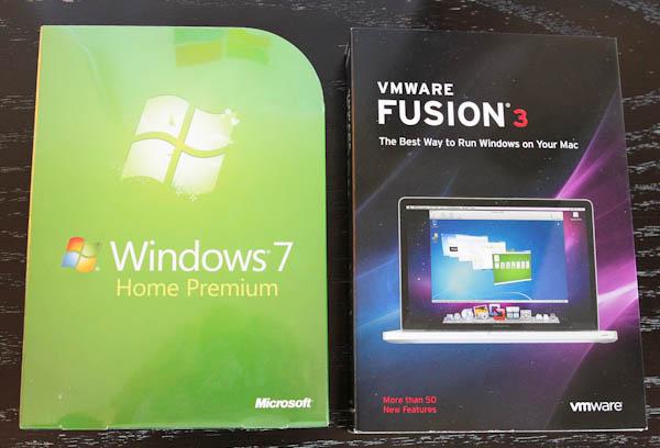 Windows 7 home premium and vmware fusion 3