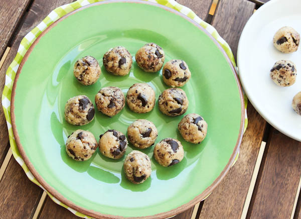 Coconut & Chocolate Chip Cookie Dough Bites
