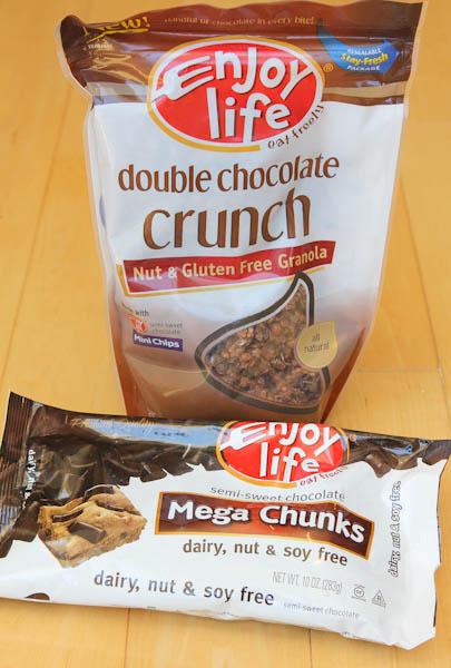 Enjoy life double chocolate crunch granola and mega chunks