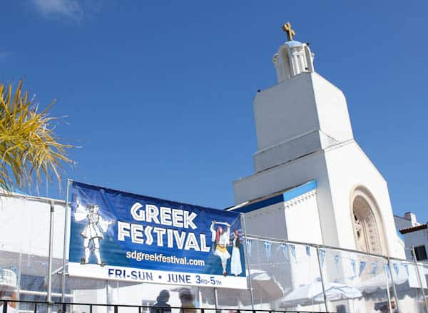 Sign for Greek Festival