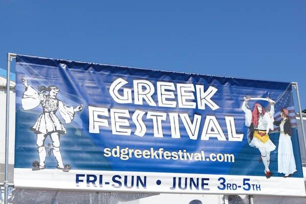Greek Festival sign