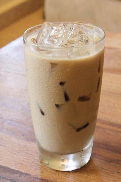 Vanilla Coffee in glass