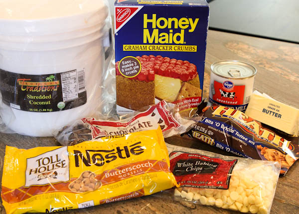 Ingredients for magic eight bars