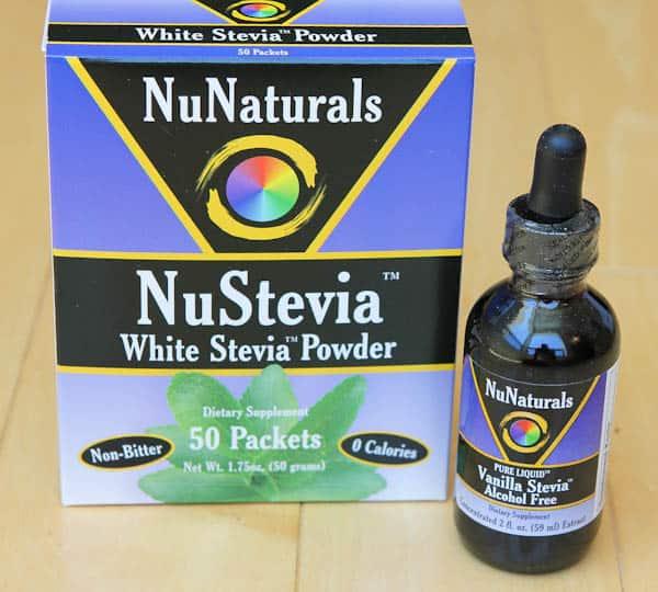 NuNaturals NuStevia stevia powder and liquid