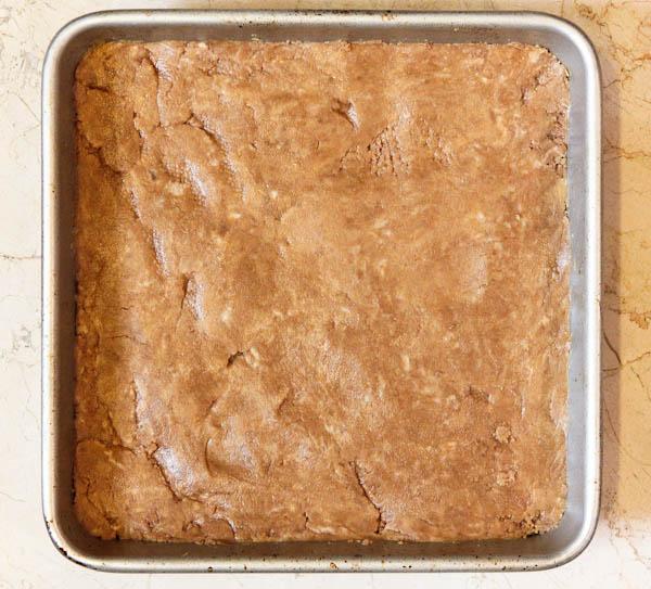 bar mixture inside pan