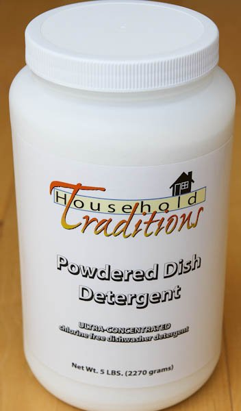 Household traditions powdered dish detergent