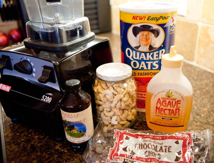Ingredients for Chocolate Chip Cookie Dough & Marshmallow Stuffed Rice Krispie Bars