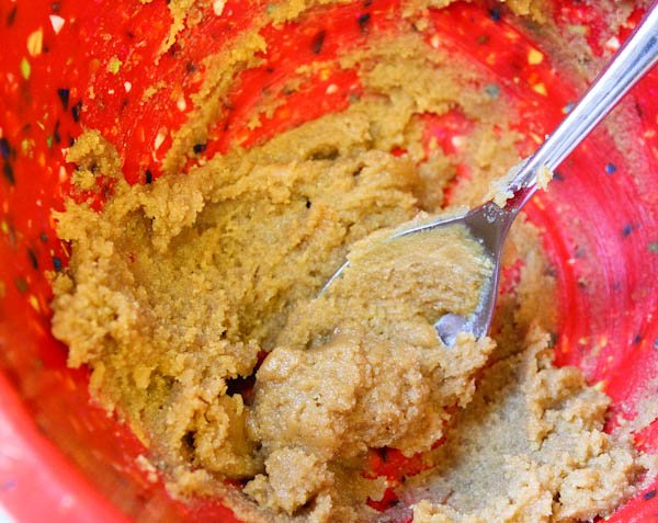Ingredients for Flourless Peanut Butter Cookies