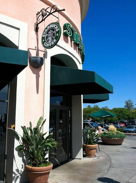 Starbucks outdoor storefront