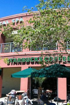 Outside of Starbucks