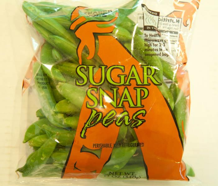 Bag of trader joe's sugar snap peas