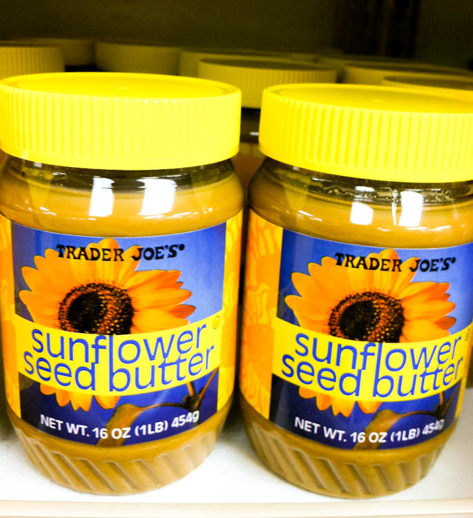 Jars of Trader Joe's Sunflower seed butter