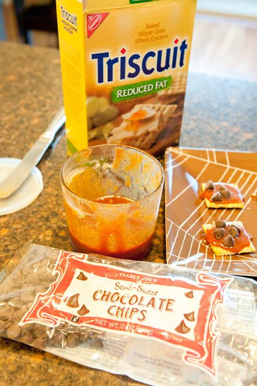dark Rum Caramel Sauce + Triscuits