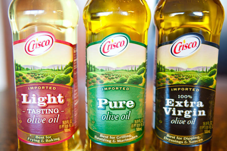 olive oil varieties from Crisco