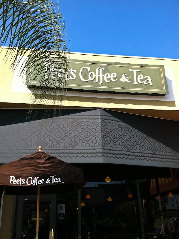 Outside Peet's Coffee & Tea Shop
