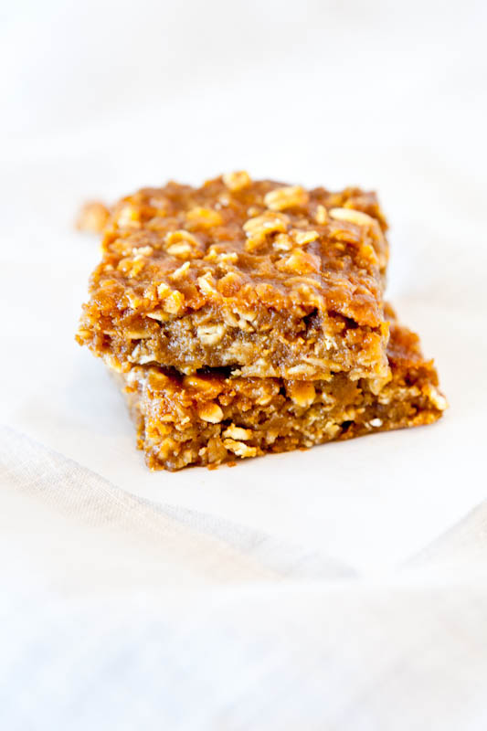 Pumpkin Peanut Butter Oatmeal Bars