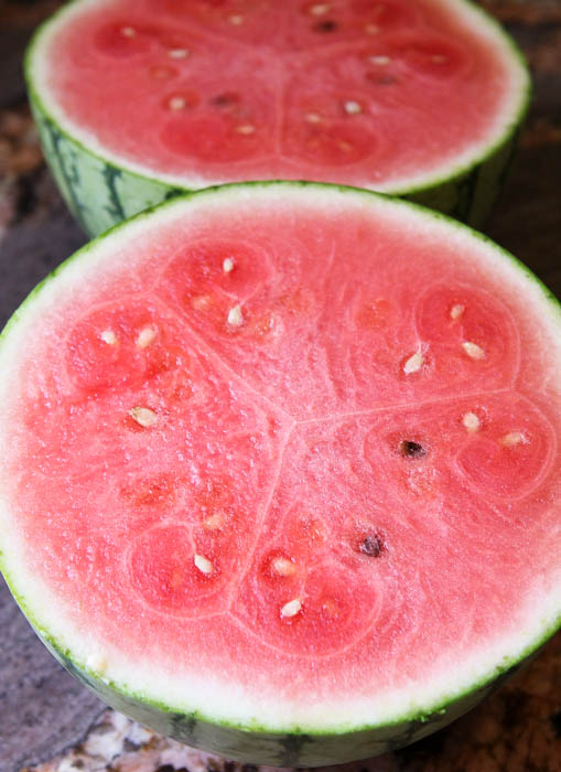 Watermelon halves