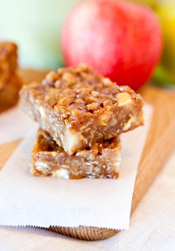 Stack of Caramel Apple bars