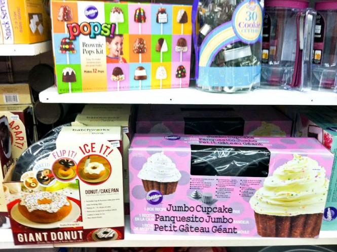 Brownie pop maker kit, giant donut and jumbo cupcake decorating kits