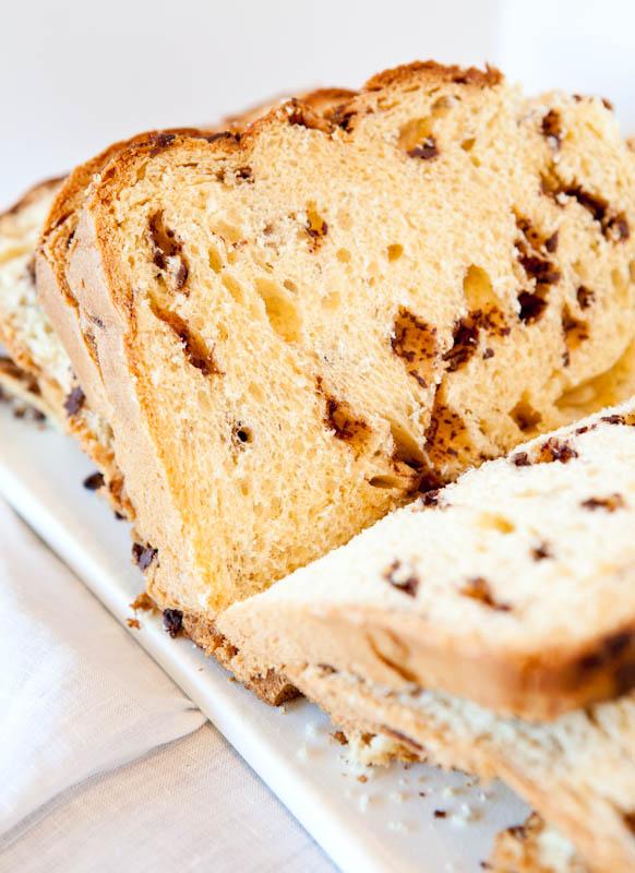 Cake bread sliced