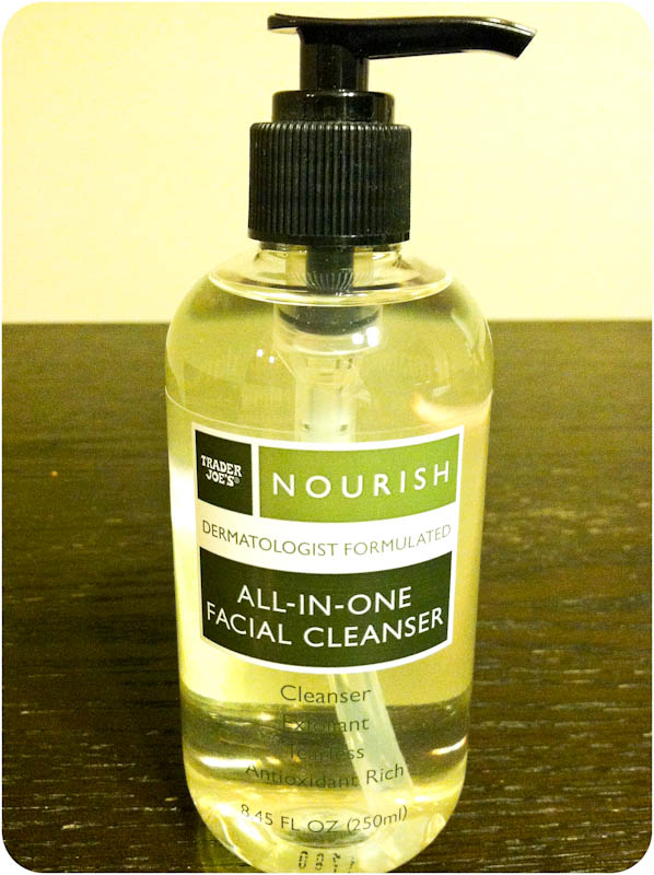 Trader Joe's Nourish All in One Facial Cleanser soap pump