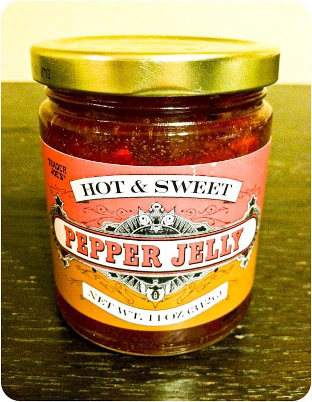 Trader Joe's Hot & Sweet Pepper Jelly in jar