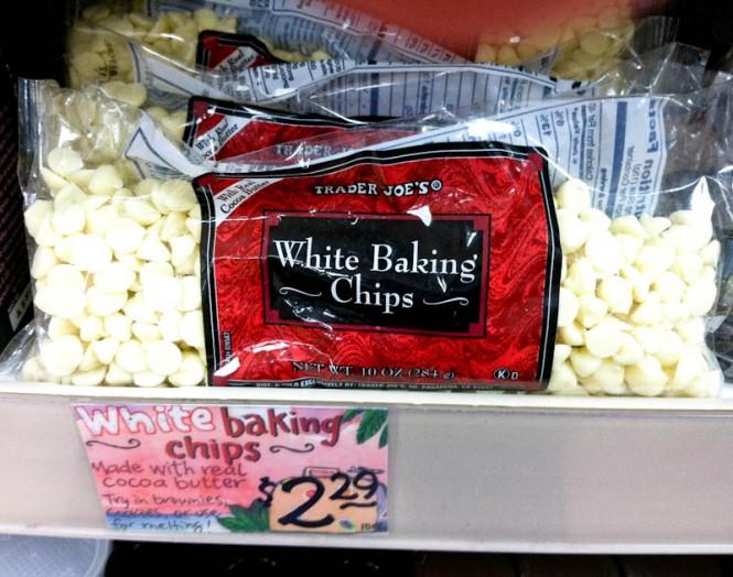 White Baking Chips bags