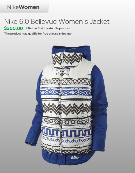 Nike 3-in-1 blue and white patterned Bellevue Jacket