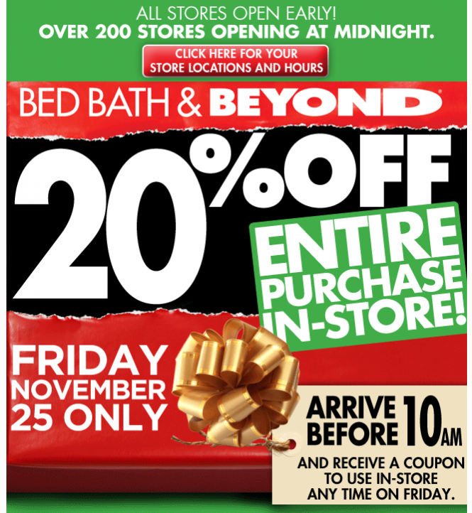 Bed Bath and Beyond Advertisement
