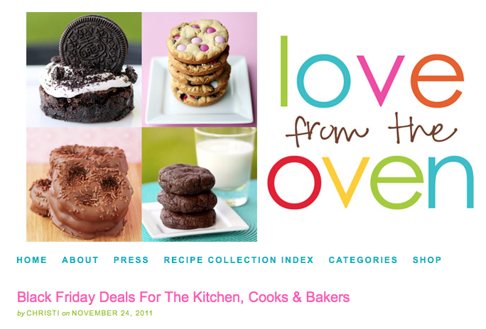 Love from the Oven Black Friday Deals