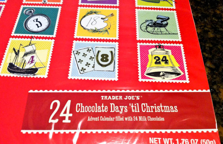 Red Christmas chocolate advent calendar