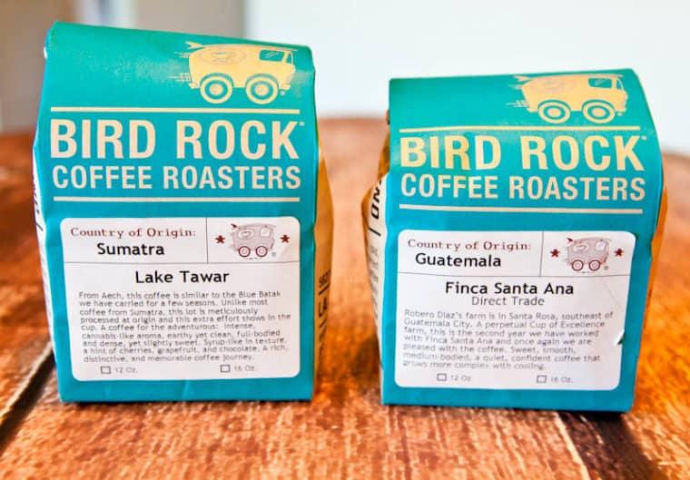 Bags of Bird Rock Coffee Roasters coffee