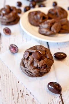 Stuffed Dark Chocolate Chocolate-Chip Cookies