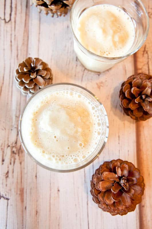 Eggnog Chai Smoothie - Smooth, creamy, and a creative and easy way to use your eggnog!
