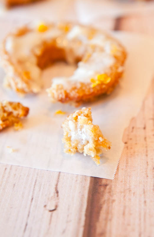 Baked Orange Coconut Banana Donuts