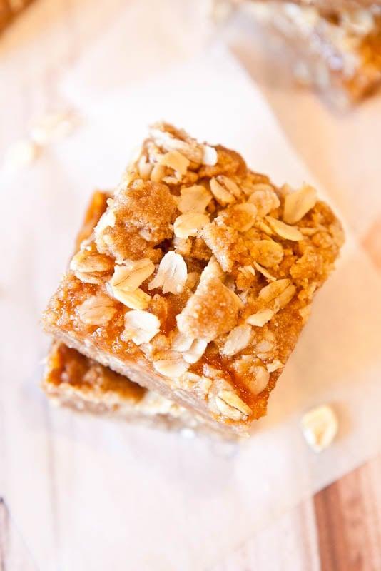 Caramel Peanut Butter & Jelly Bars