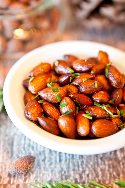 Rosemary Chipotle Roasted Almonds