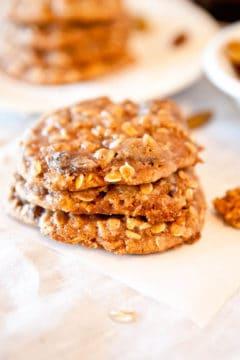 Dark Rum Oatmeal Raisin Cookies