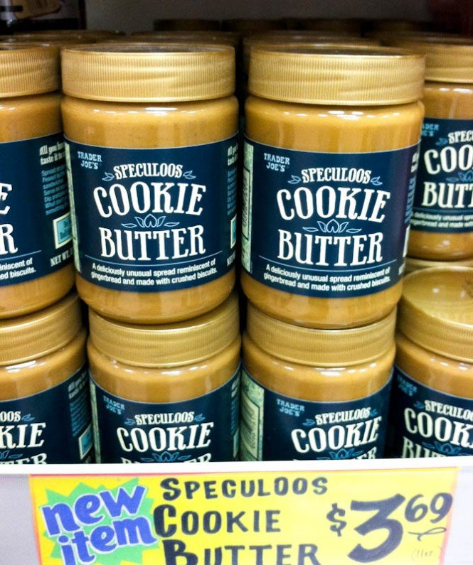 Jars of speculoos Cookie butter