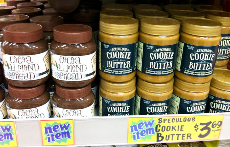 Cocoa Almond and Cookie Butter Spreads