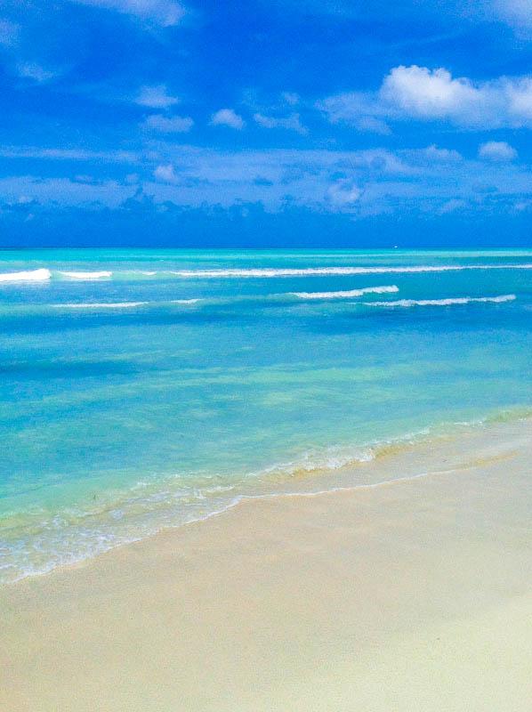 Aruba ocean and horizon