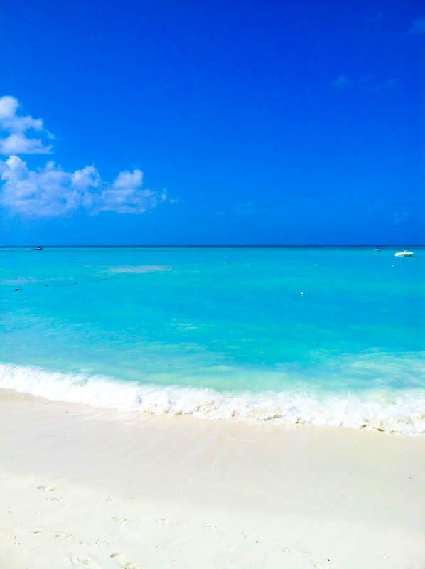 Aruba beach and ocean