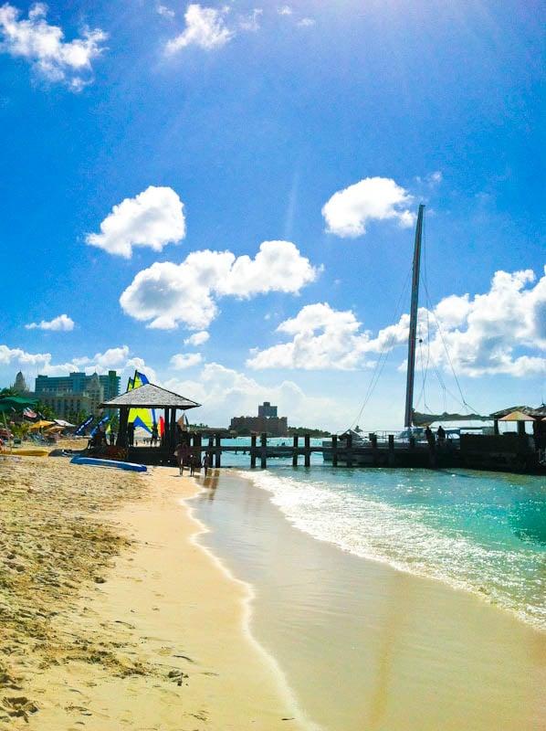 Aruba beach and dock