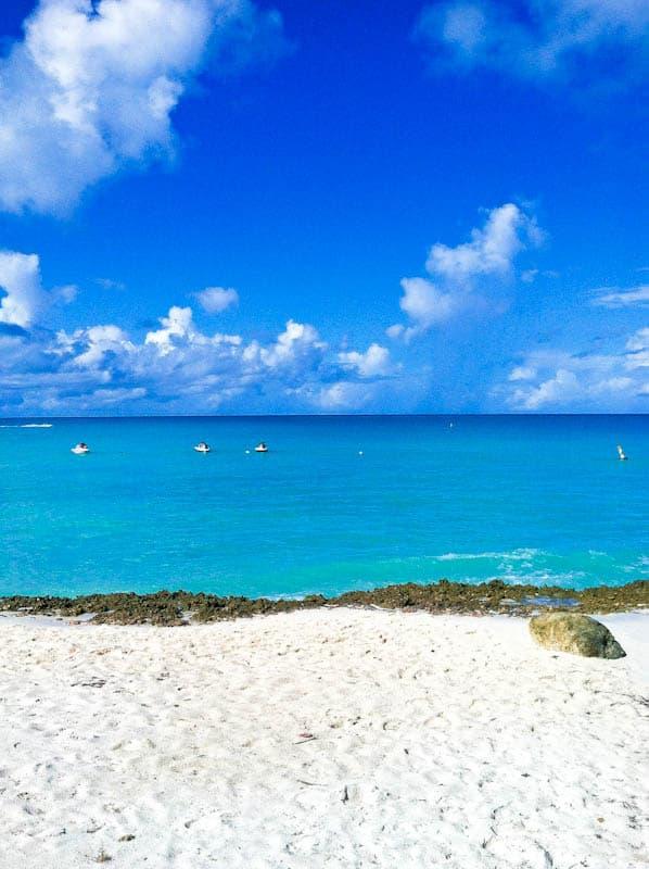 Overlooking aruba sea
