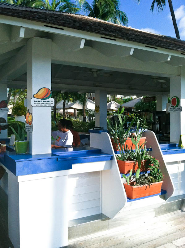 Beachside smoothie hut