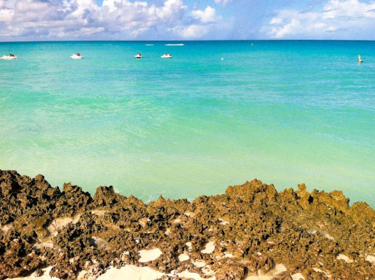 Rocks overlooking Aruba beach