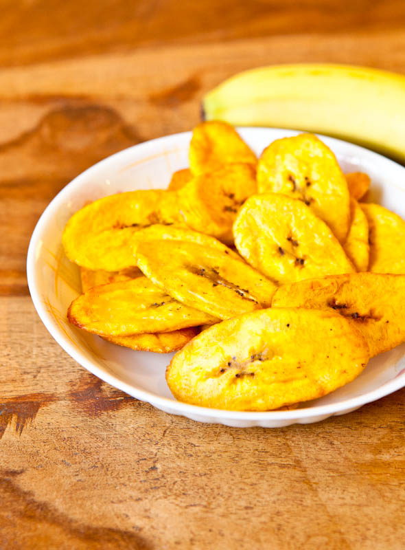 Coconut Oil Fried Cinnamon Sugar & Ginger Plantains in bowl