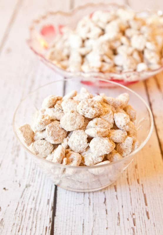 White Chocolate Vanilla Peanut Butter Puppy Chow