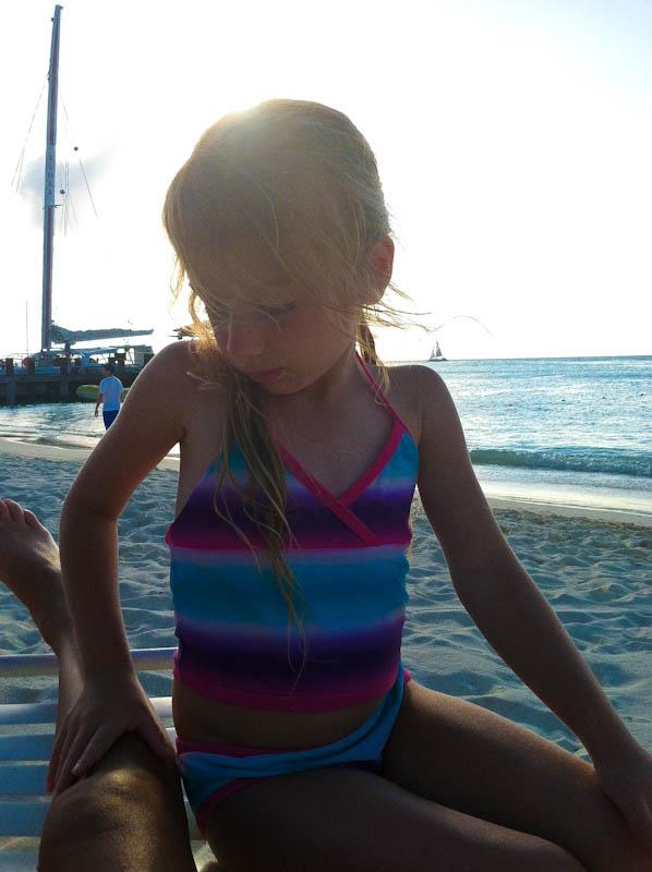 Skylar at the beach