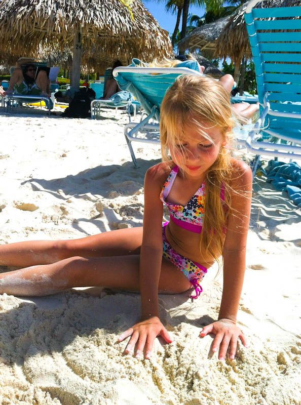 Daughter Skylar at the beach